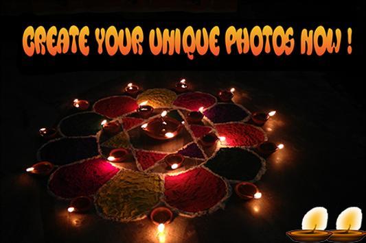 Deepavali Photo Grid Editor poster