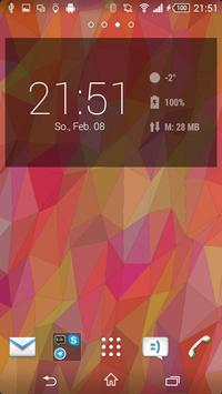 Flat Triangles Live Wallpaper screenshot 4