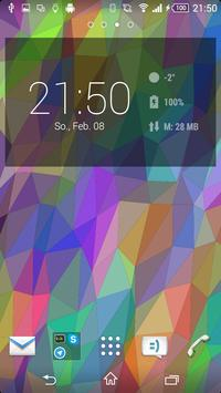 Flat Triangles Live Wallpaper poster