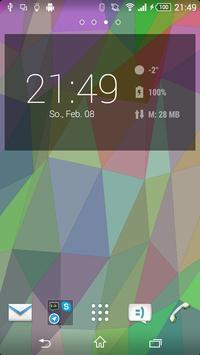 Flat Triangles Live Wallpaper screenshot 1