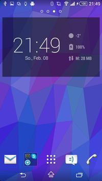 Flat Triangles Live Wallpaper screenshot 2