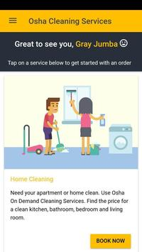 Osha On Demand Cleaning App poster