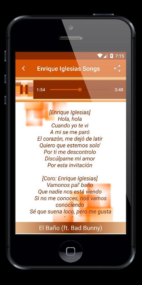 Enrique Iglesias El Baño (ft  Bad Bunny) for Android - APK