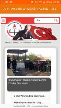 75.Yıl Mesleki ve Teknik Anadolu Lisesi poster