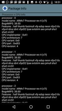 Package Info apk screenshot