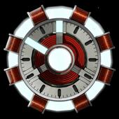 Arc Reactor Clock Widget icon