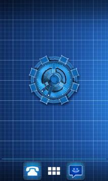 Arc Reactor Clock Widget apk screenshot