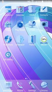 Blue Minimalist Theme poster