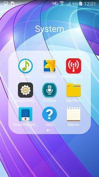 Blue Minimalist Theme apk screenshot
