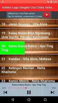 Koleksi Lagu Dangdut Cita Citata Terbaru screenshot 2