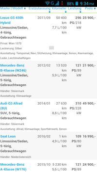 Gebrauchtwagen Österreich screenshot 2