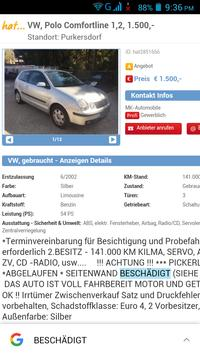 Gebrauchtwagen Österreich apk screenshot
