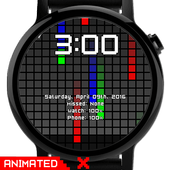 Watch Face: Color Pixel - Wear OS Smartwatch icon