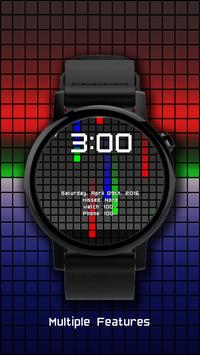 Watch Face: Color Pixel - Wear OS Smartwatch poster