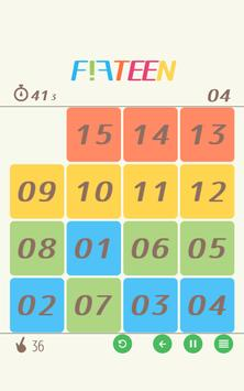 15 puzzle - FIFTEEN - poster