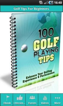 Golf Tips For Beginners poster