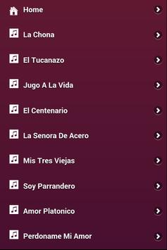Letras Los Tucanes de Tijuana apk screenshot