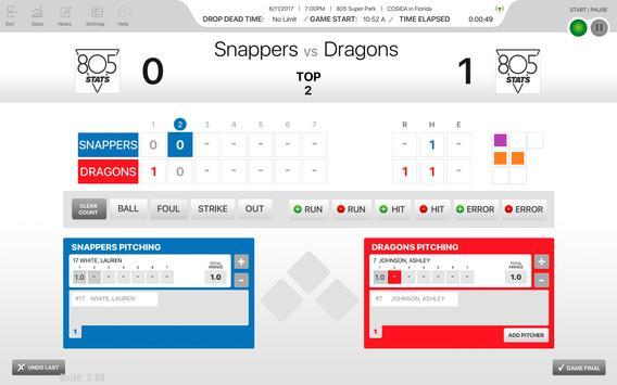 805Stats Baseball/Softball screenshot 4