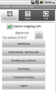 011Now - International calls screenshot 1