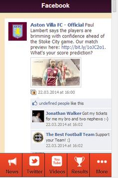 Villa Football News apk screenshot
