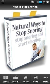 How To Stop Snoring poster