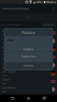 InternationalNotes - Idiomas apk screenshot