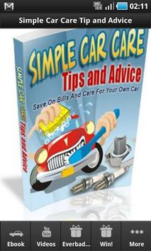 Simple Car Care Tip and Advice poster