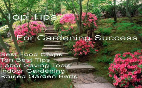 Top Tips For Garden Success Affiche