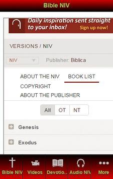 New International Version NIV screenshot 1