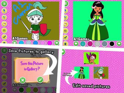 Indian Princess Doodle Colouring Book apk screenshot