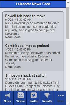Leicester Football News apk screenshot