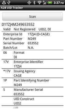 A2B UID Tracker apk screenshot
