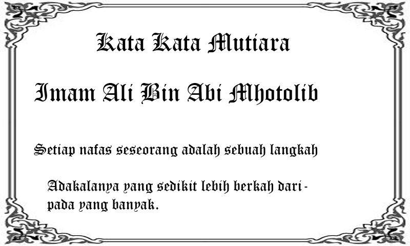 Kata Kata Mutiara Imam Ali Bin Abi Thalib For Android Apk