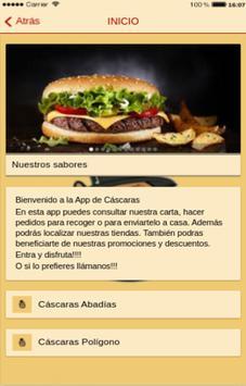 Cáscaras App poster