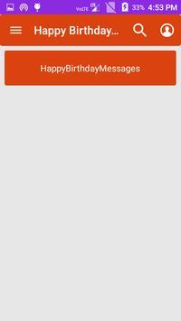 Happy Birthday Messages screenshot 1