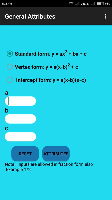 Parabola Solver Apk Download Free Education App For Android