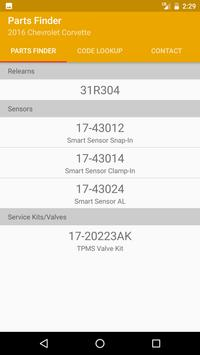 TPMS Part Finder apk screenshot
