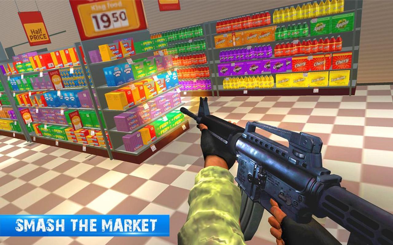 Офис громить разрушение супер рынок игра стрелок для андроид.