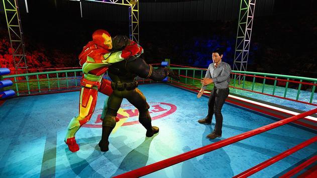 Superhero Wrestling Battle Arena Ring Fighting poster