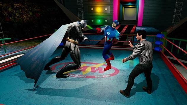 Superhero Wrestling Battle Arena Ring Fighting screenshot 7