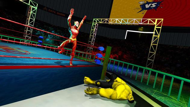 Superhero Wrestling Battle Arena Ring Fighting screenshot 8