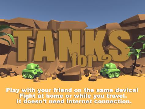 Tanks 3D for 2 players on 1 device - split screen screenshot 5