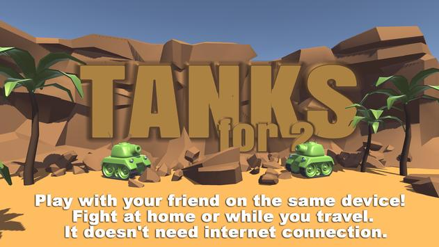 Tanks 3D for 2 players on 1 device - split screen poster