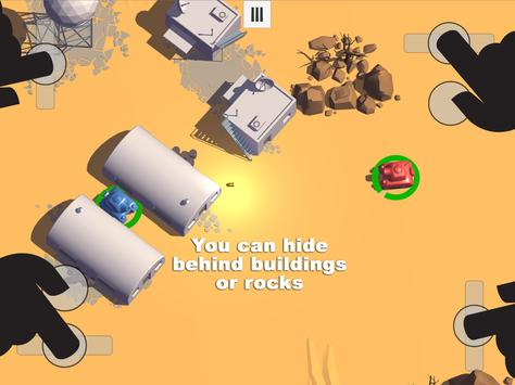 Tanks 3D for 2 players on 1 device - split screen screenshot 13