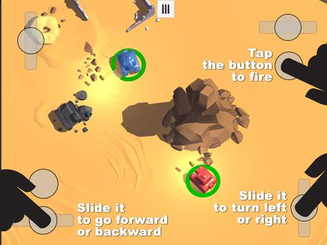 Tanks 3D for 2 players on 1 device - split screen screenshot 11