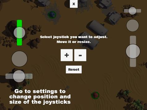 Tanks 3D for 2 players on 1 device - split screen screenshot 14