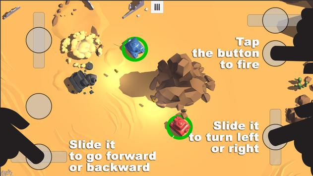 Tanks 3D for 2 players on 1 device - split screen screenshot 1