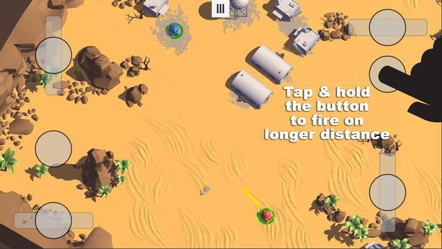 Tanks 3D for 2 players on 1 device - split screen screenshot 2