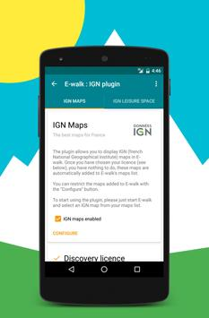 IGN maps (E-walk plugin) poster