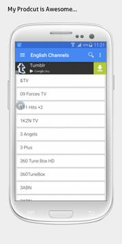 UK TV sat info apk screenshot